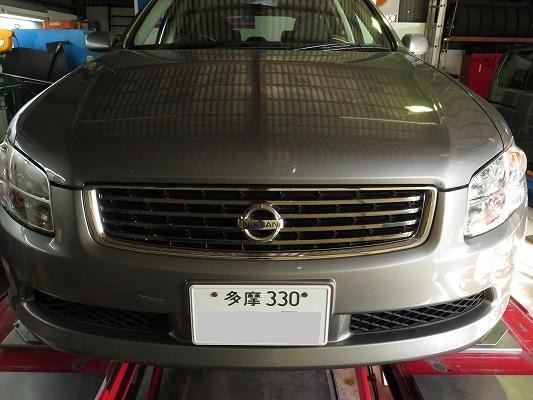 東京都からステージア NM35 リフレッシュプラン その1。  ドライアイスで煤除去作業。 直噴エンジンの定番整備。