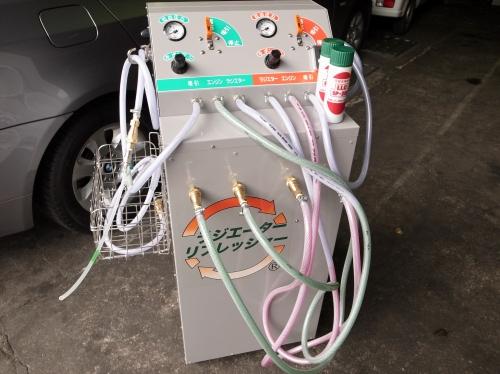 冷却水をリフレッシュ!! 廃液を出さないのでこれもエコ?